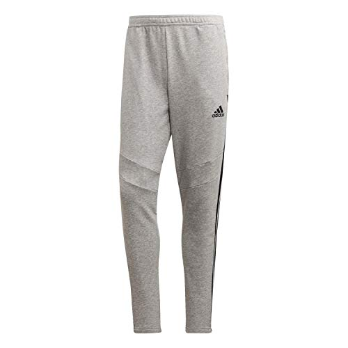 adidas Tiro 19 Cotton Pant Pantaloni, Uomo, Medium Grey Heather/Black, XL