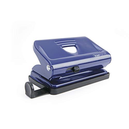 Rapesco PF810ML1 810 - Perforadora Metálica de 2 Agujeros, Capacidad de 12 Hojas, Azul