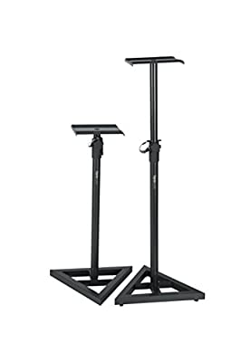 Gator Frameworks Studio Monitor Stands with Adjustable Height and Locking Saftey Pin; Pair (GFW-SPK-SM50) from Gator Cases
