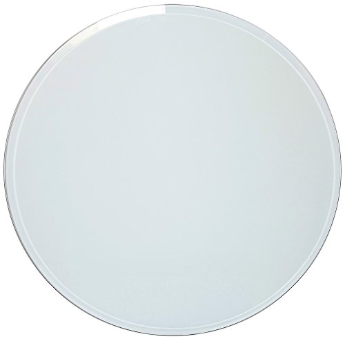 36 Inch Beveled Glass Table Top | 3/8' Thick Tempered Polished Edge | 36' Diameter 1' Bevel Premium Round Circular Plate Glass | Perfect Circle