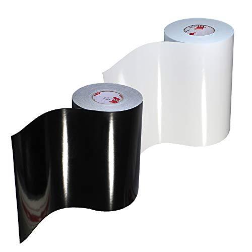 """ORACAL 651 Multi-Color Vinyl Starter Kit 12"""" x 5ft 2-Roll Bundle (Gloss Black/White)"""