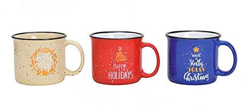 MC Trend Juego de 3 tazas con decoración navideña Merry Christmas taza...