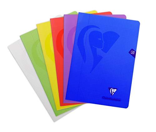 Clairefontaine 303522C Heft Mimesys DIN A4, 21 x 29,7cm, 60 Blatt, kariert mit Rand, 1 Stück, farbig sortiert