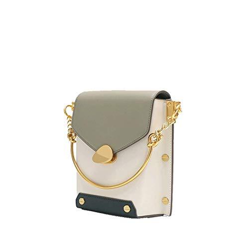 Dames schoudertas, ketting handtas kleine vierkante tas wilde kleur leer schoudertas diagonale tas, geschikt voor winkelen werk
