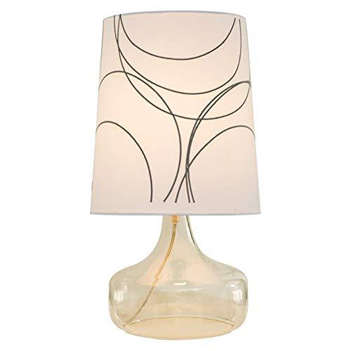XINKONG Lámpara Botella de Cristal Dormitorio Mesita de luz lámpara de Escritorio del Estilo de Bordado de la lámpara (Color : B)