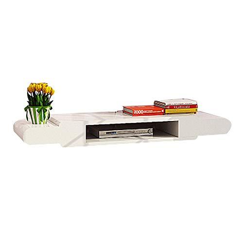 Mobile TV pensili, scaffale multimediale galleggiante, realizzato in materiale di legno massello, adatto per piccoli appartamenti, può contenere lettori DVD, ecc, Utilizzato in soggiorno D