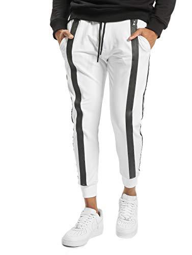 VSCT Clubwear Herren Jogginghosen Tapered Antifit Zipped weiß M