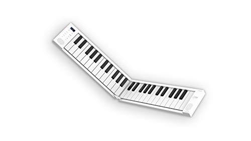 Black Star Piano plegable portátil de Blackstar, Piano portátil de 49 teclas con batería recargable por USB integrada y MIDI sobre USB. Teclado de piano con 128 sonidos 1,01 kg, 39 cm, BA203012