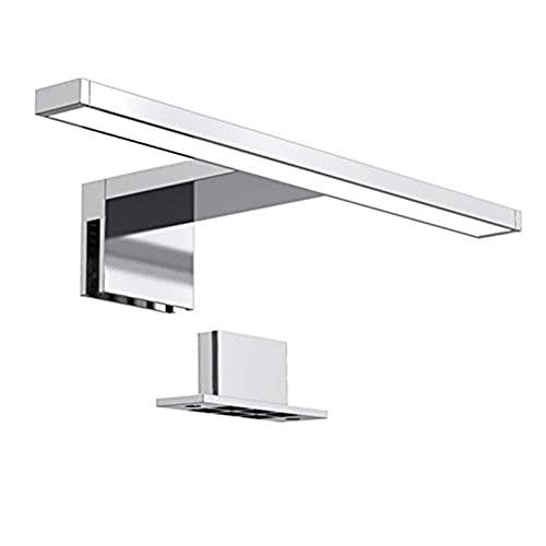 230V Spiegelleuchte 300Mm Vanity Light Leuchte Neutralweiße Make-Up Lampe Für Schlafzimmer Badezimmer Schminktisch (Farbe: Silber, Größe: 30X10,3X3,6 cm)