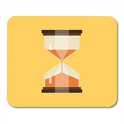 Mauspads Countdown Flache Sanduhr Weiß Einfach Sand Sanduhr Timer Uhr Zeitfluss Mauspad Für Notebooks, Desktop-Computer Mausmatten, Büromaterial