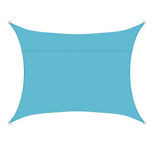 ZDYLM-Y Toldo Rectangular para toldo, toldo, toldo, Resistente al Agua, Duradero, con Bloque UV, toldo, para Patio y jardín,Sky Blue,3×6m