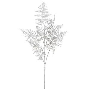 Arcadia Silk Plantation 34″ Metallic Asparagus Fern Spray Silver (Pack of 12)