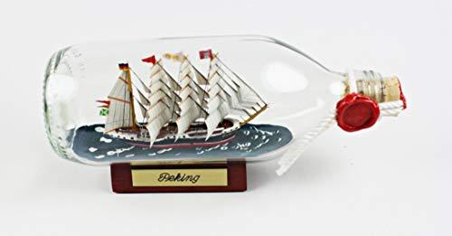 Peking runde Flasche 0,3 Liter Buddelschiff Museumsschiff Travemünde Flaschenschiff