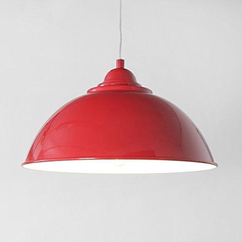 Moderne Hängeleuchte in Rot Orange Industrie Stil 1xE27 bis zu 60 Watt 230V aus Metall Schlafzimmer Küche Wohnzimmer Esszimmer Lampen Leuchte innen Beleuchtung