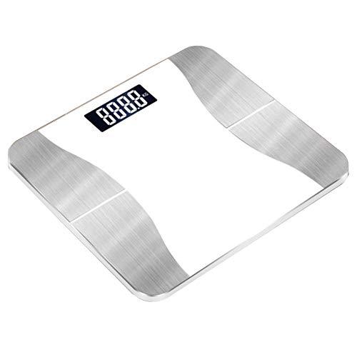 Cnwang Ultimative Genauigkeit Elektronische Digitale Personenwaage, Intelligente Bluetooth-fettwaage,Weiß