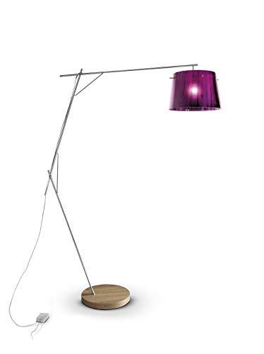 Slamp Kunststoff Stehleuchte/Slamp-Leuchten Woody in Violett | Handgefertigt in Italien | Stehlampe Modern lila | Lampe E27
