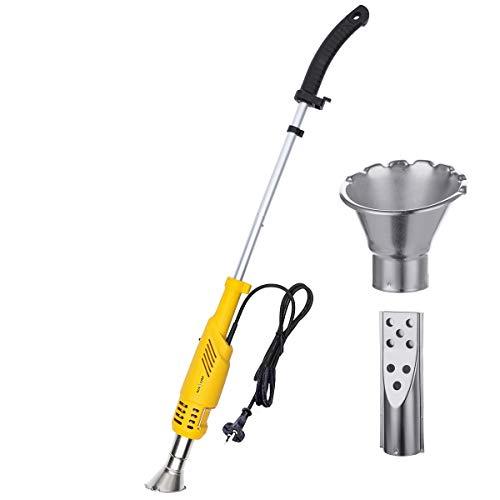 Unkrautvernichter NASUM Abflammgerät Unkrautbrenner ohne Flamme&Gas, elektrisch umweltfreundlich, Rasenmäher Temperatur wahlweise 60℃/650℃ mit 2 Düsen, 1.8m Kabel