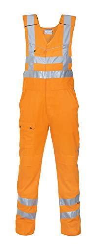 Hydrowear 048460 Albergen Pantalón de cuerpo, Beaver, 50% poliéster, 50% algodón, 56 tamaños, color naranja