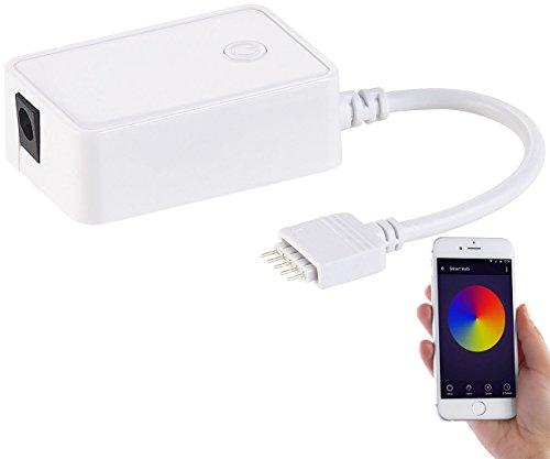 Luminea Zubehör zu WLAN LED Streifen: WLAN-Controller (LED Serie LAX), Amazon Alexa & Google Assistant komp. (LED Streifen RGBW)