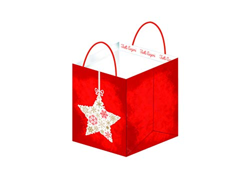 PARTY STORE WEB BY CASA DOLCE CASA 10 Buste Natalizie Rosse di Carta per Regali Natale Shopper Natale con Manico (10 Buste 24x24x35)