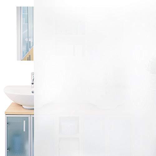 rabbitgoo Fensterfolie Milchglasfolie Selbstklebend Sichtschutzfolie Folie Anti-UV für Privatsphäre Büro Badezimmer Schlafzimmer 44.5 x 200CM