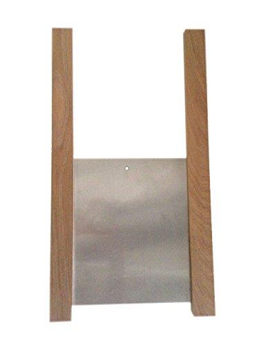 Classic Chicken Coop Door Kit - Solid American Oak Runners & Aluminum Door Panel - Vertical Pop Hole Style - Poultry, Duck, Geese