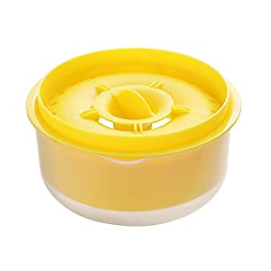 Gobesty Separador de huevo Yema de huevo clara, Separador de filtro de yema de clara de huevo con bandeja de goteo para una separación rápida y limpia de proteínas y yema de huevo