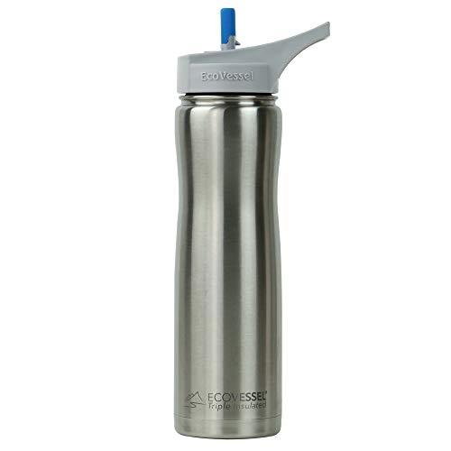 Zulu Atlas Gym Yoga Fitness Bike Glass Water vessel Bottle Flip Lid Teal 20oz