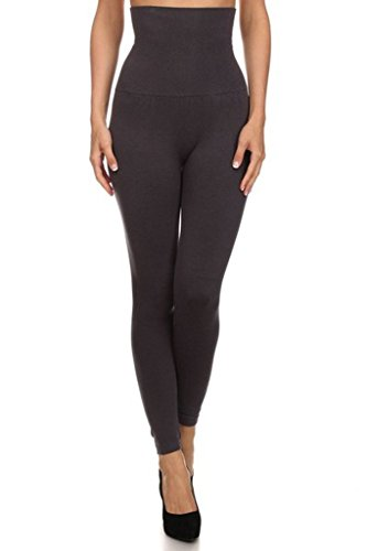 YELETE Women's High Waist Compression Leggings - One Size - Charcoal