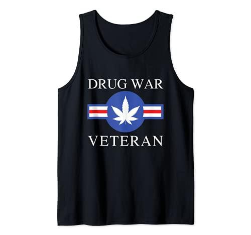 Drug War Veteran Marijuana Weed Stoner Funny Pothead Kush Tank Top