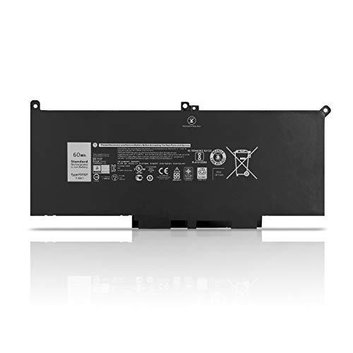 K KYUER 7.6V 60Wh F3YGT Laptop Akku für Dell Latitude 12 7000 7280 7290 Latitude 7380 7390 P29S002 Latitude 7480 P73G001 7490 P73G002 0F3YGT DM3WC DM6WC 0DM3WC 2X39G KG7VF V4940 451-BBYE P28S P28S001