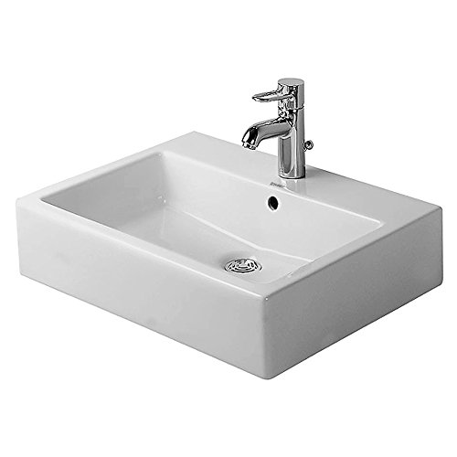 Duravit Vero WonderGliss 4546000001Badezimmer Waschbecken Breite 60cm Wasserhahn Wasserhahn Weiß