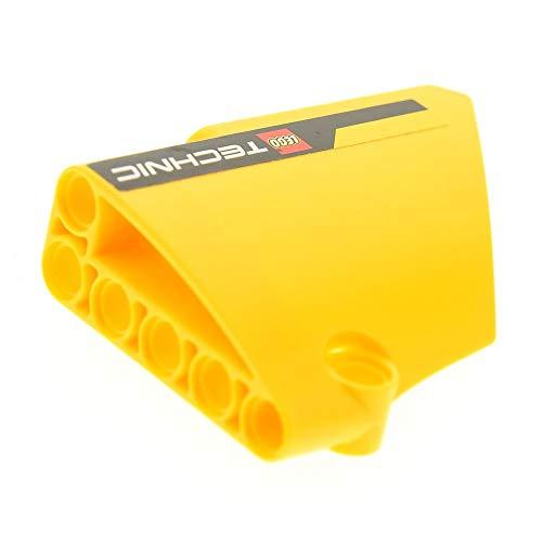 LEGO 1 x Technic Panele gelb Verkleidung 14 Seite B Gross kurz glatt Fairing # 14 Side B mit Sticker TECHNIC Logo Set 8069 64680