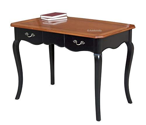 Schreibtisch aus Kirschbaum in 2 Farben, praktischer Schreibtisch mit 2 Schubladen und Holzplatten, Schreibtisch Büro Made in Italy NEU 110x62xH79 cm