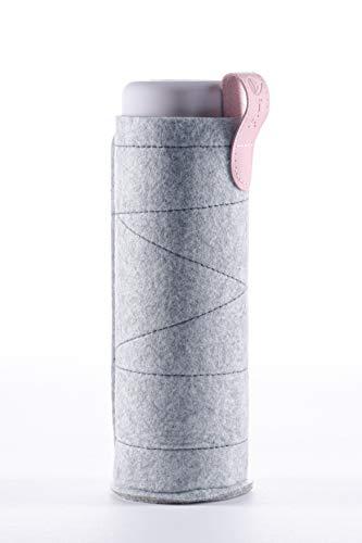 VitaJuwel Schutzhülle für ViA und inu! Wasserflaschen   Filz, Hellgrau