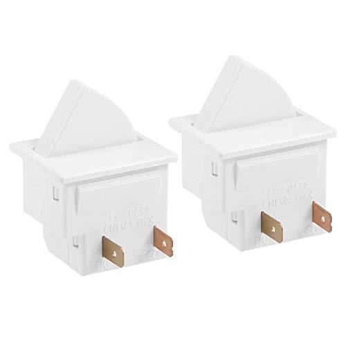 YeVhear - Interruptor de luz para puerta de frigorífico momentáneo (250 V, 0,5 A, 2 unidades)