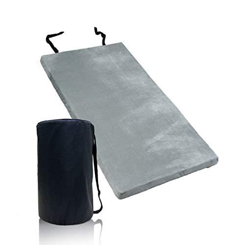LHQ-HQ Colchón de Espuma viscoelástica de EE. UU. para Acampar-Colchoneta portátil para Dormir/Cama de Invitados/Colchón Ligero para Tienda de campaña al Aire Libre/Impermeable extraíble