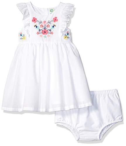 Little Me Vestido de niña Tela de Vestimenta, Blanco, 24 Meses