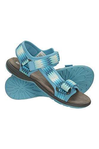 Mountain Warehouse Beachtime Sandalen - Sommerschuhe mit Phylon-Zwischensohle, leicht, Klettverschluss, leicht zu verstauen - Für Sommerspaziergänge, Strand und Pool Minze 38 EU