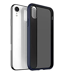 ZSCHAO For iPhone XR Case Silicone Slim Fit Clear Transparent Matte Black Shockproof TPU Compatible with iPhone XR Case thin Hard Tough Rugged Mate Cover Bumper Shell Skin Blue