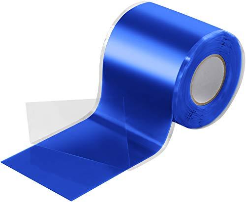 Poppstar 3m selbstverschweißendes Silikonband, Silikon Tape Reparaturband, Isolierband und Dichtungsband (Wasser, Luft), 50mm breit, blau