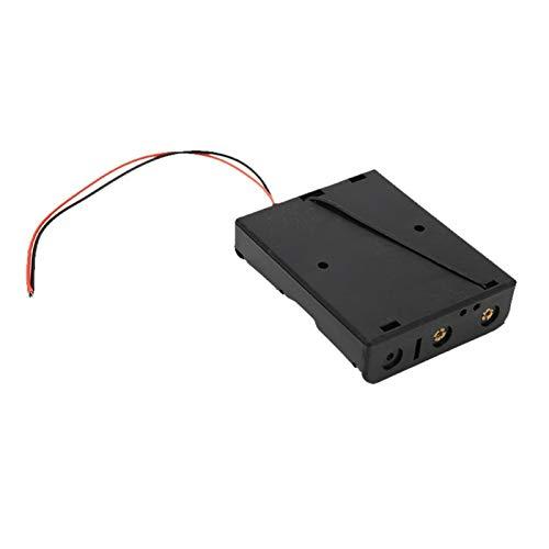 Jeanoko Componentes de carga de 5 piezas DIY Tándem compartimento de batería 3 pilas caja de almacenamiento de batería Componente electrónico con segundo cable rojo y negro.