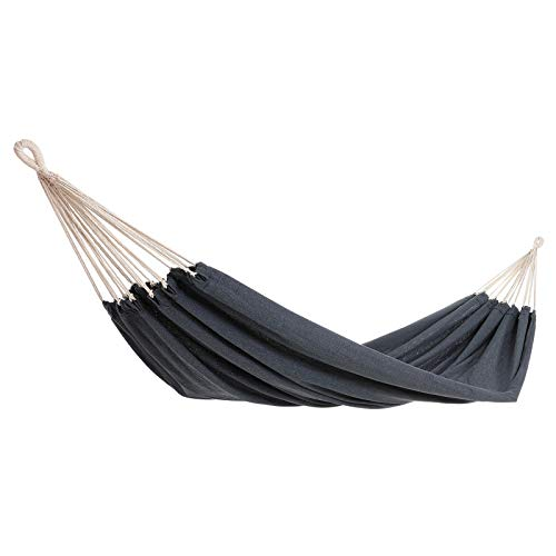 Detex Garden Hammock Travel Outdoor Patio Camping Hiking 320x150cm Cotton Max Load Capacity 300kg Swing Bed Portable (Grey)