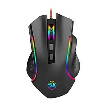 Redragon M602 RGB Wired Gaming Mouse RGB Spectrum Backlit Ergonomic Mouse Griffin Programmable with 7 Backlight Modes up to 7200 DPI for Windows PC Gamers  Black