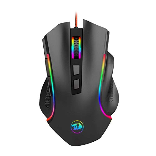 mouse Gaming LED RGB con cable MMO PC Gaming mouse ergonómico de alta precisión 7 botones programable Gaming Mouse Total 8 botones...
