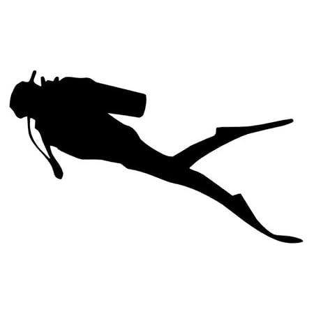 Generic Tauchsport Aufkleber In 10cm 15cm 20cm 25cm Taucher Tauchen Aufkleber Autoaufkleber Diving 121 3 10cm Schwarz Glanz Garten