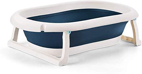 Bañera plegable portátil de bebé Expandiendo el cubo de baño de entrega de plástico, piscina para niños,Blue