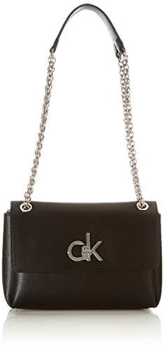 Calvin Klein Damen RE-Lock Crossovers, Schwarz, OS
