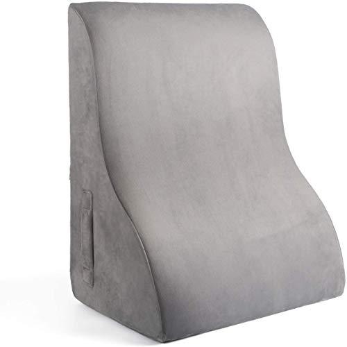 SAPOIGUANA - Almohada de cuña para ver y leer en la cama o el sofá - Cojín de apoyo para espalda, pierna y rodilla, almohada de lectura