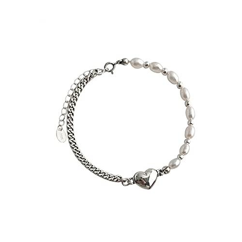 N/A Love Freshwater Pearl Duck Bracelet S925 Collar de Plata esterlina Pulsera de mujerAniversario Día de la Boda Navidad Día de la Madre Regalo de cumpleaños.